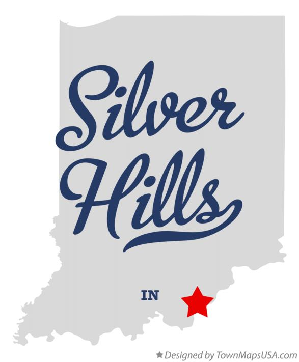 Map of Silver Hills Indiana IN