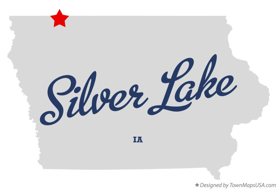 Map of Silver Lake Iowa IA