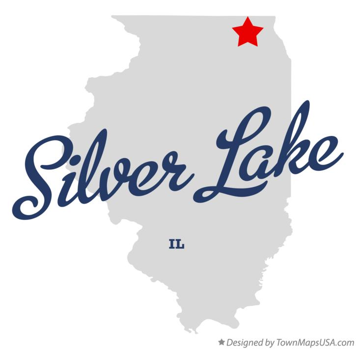Map of Silver Lake Illinois IL