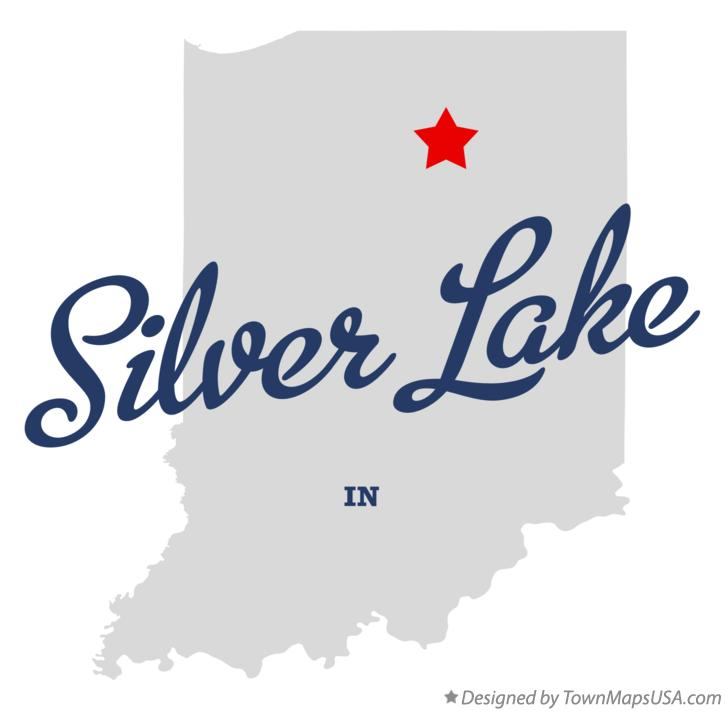 Map of Silver Lake Indiana IN