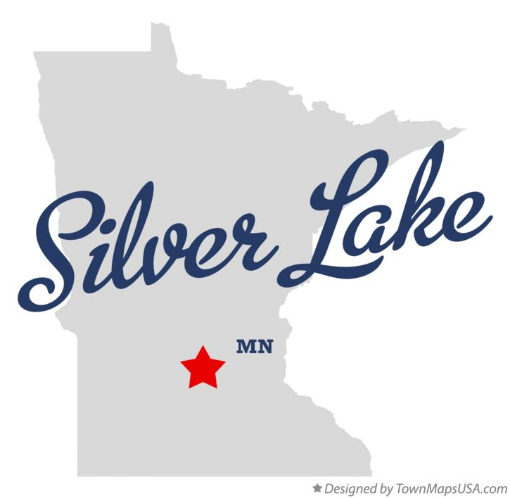 Map of Silver Lake Minnesota MN