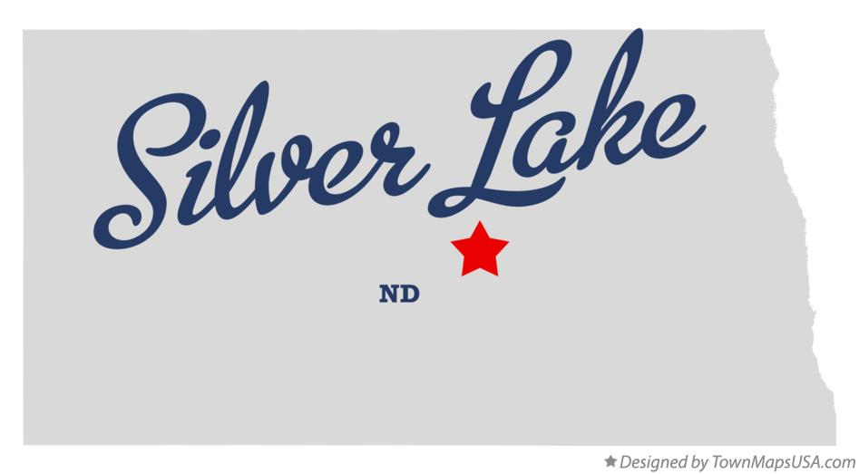 Map of Silver Lake North Dakota ND