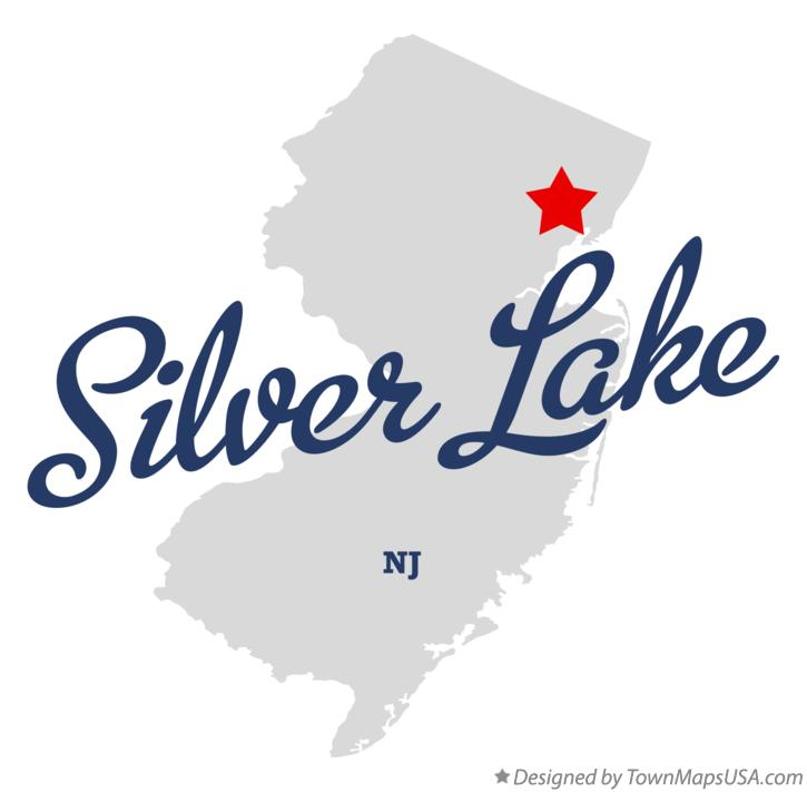 Map of Silver Lake New Jersey NJ