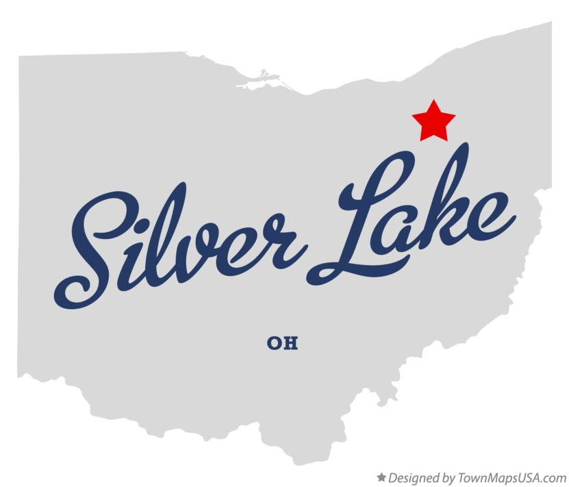 Map of Silver Lake Ohio OH