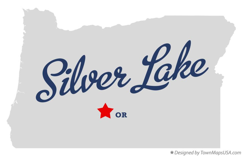 Map of Silver Lake Oregon OR