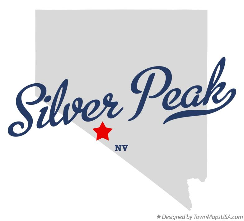Map of Silver Peak Nevada NV