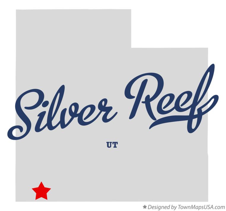 Map of Silver Reef Utah UT