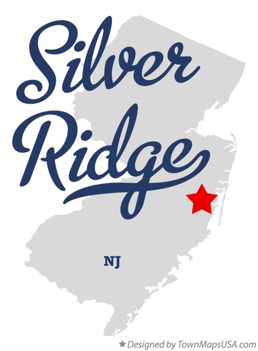 Map of Silver Ridge New Jersey NJ