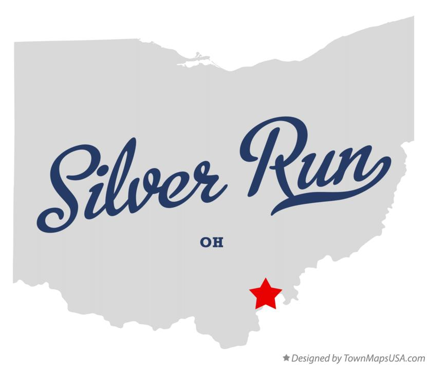 Map of Silver Run Ohio OH