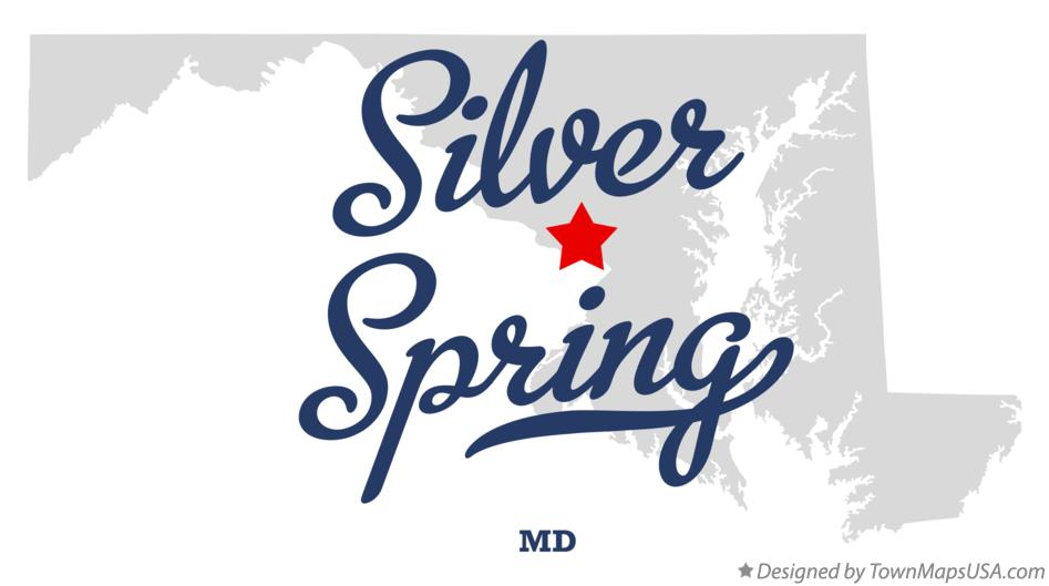 Map of Silver Spring Maryland MD