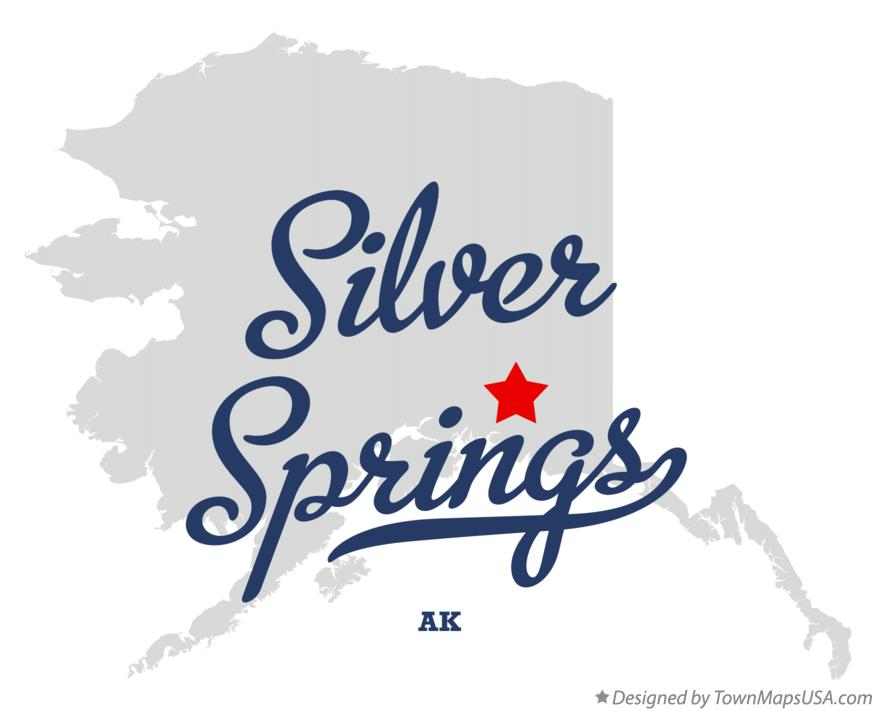 Map of Silver Springs Alaska AK