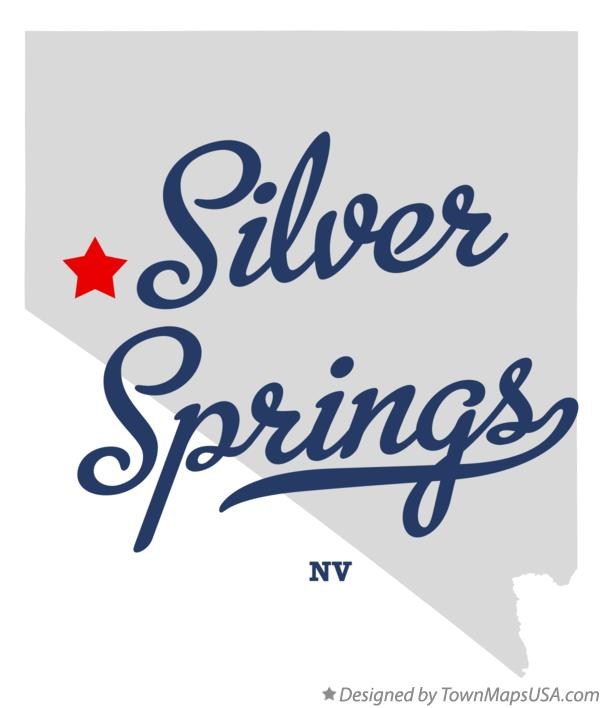 Map of Silver Springs Nevada NV
