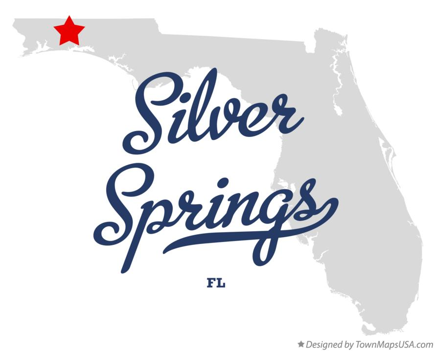 Map of Silver Springs Florida FL