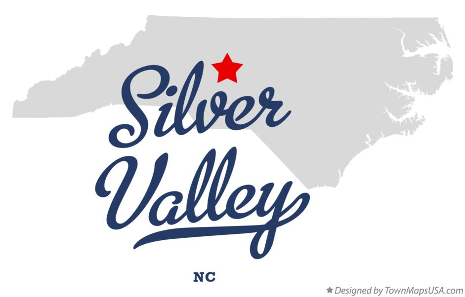 Map of Silver Valley North Carolina NC