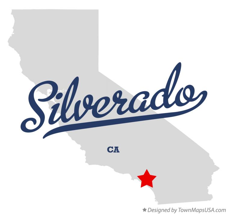 Map of Silverado California CA
