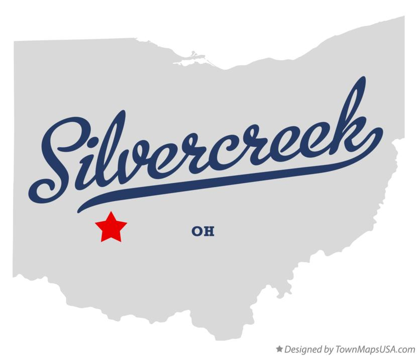 Map of Silvercreek Ohio OH