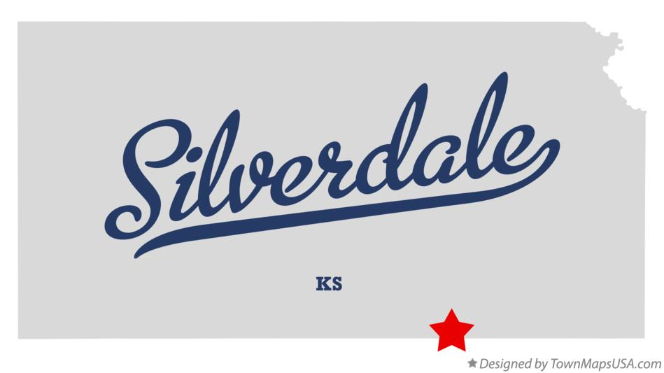 Map of Silverdale Kansas KS