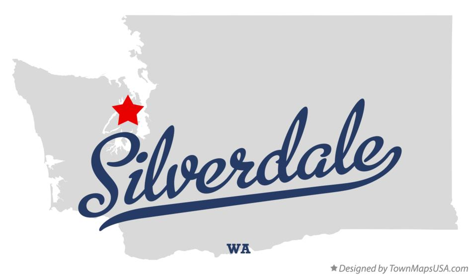 Map of Silverdale Washington WA