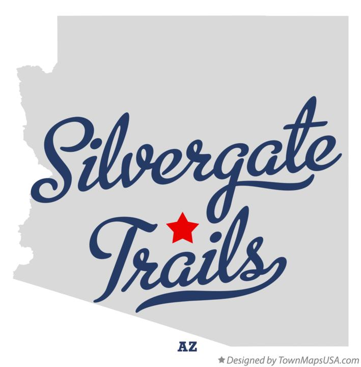 Map of Silvergate Trails Arizona AZ