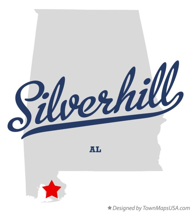 Map of Silverhill Alabama AL