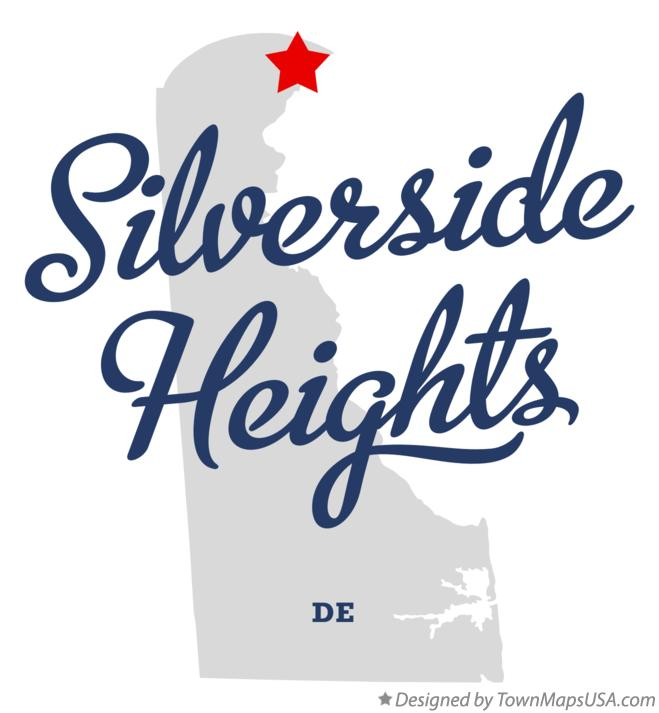 Map of Silverside Heights Delaware DE