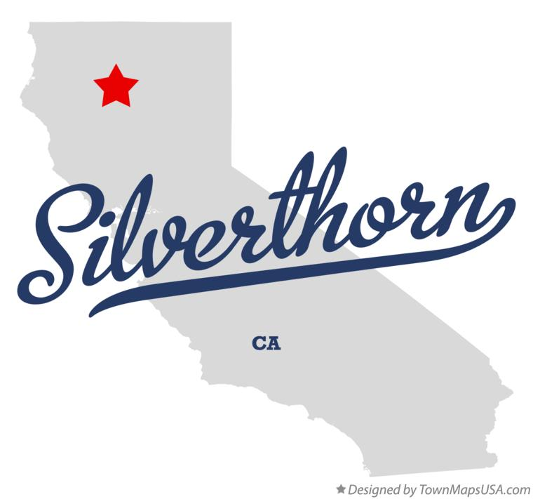 Map of Silverthorn California CA
