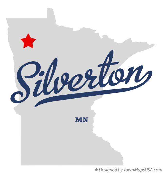 Map of Silverton Minnesota MN