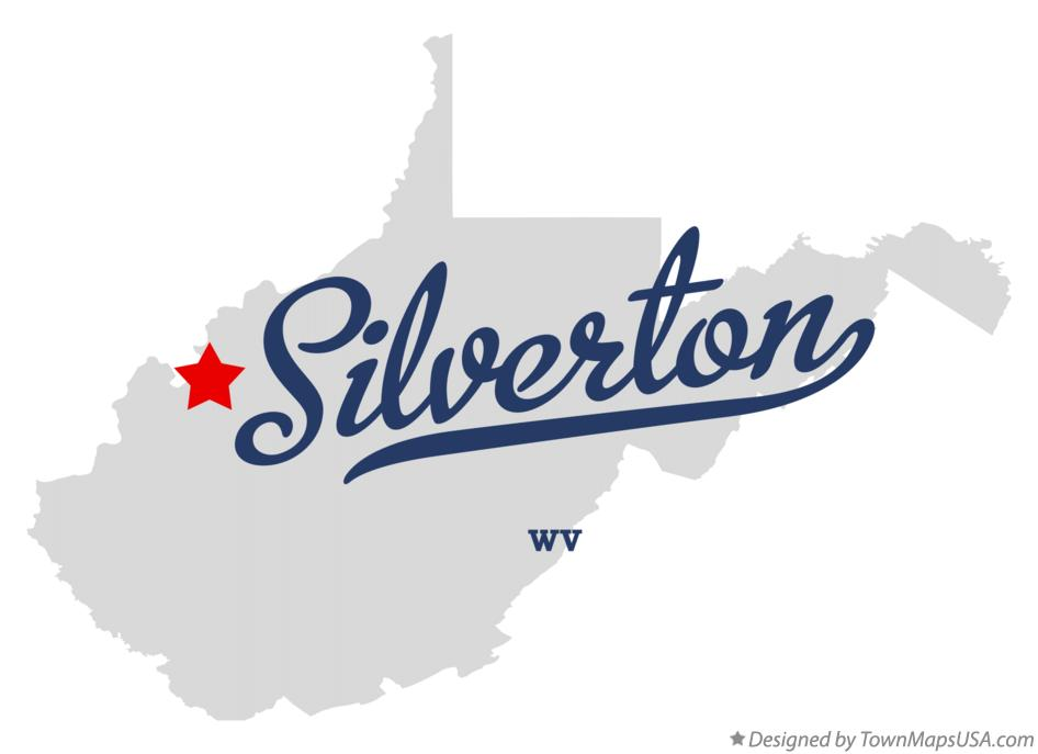 Map of Silverton West Virginia WV