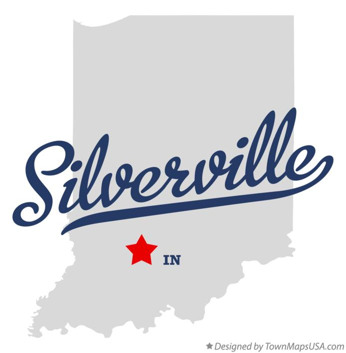 Map of Silverville Indiana IN