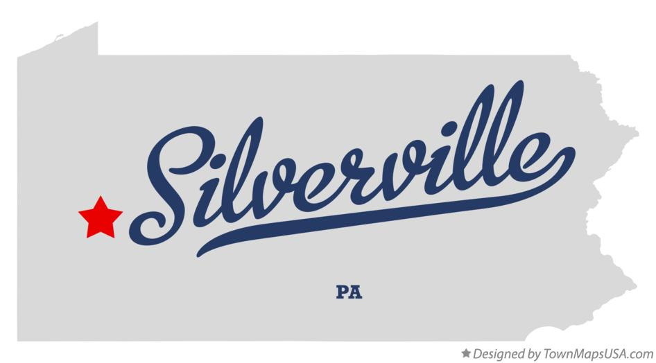 Map of Silverville Pennsylvania PA