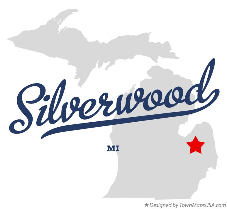 Map of Silverwood Michigan MI