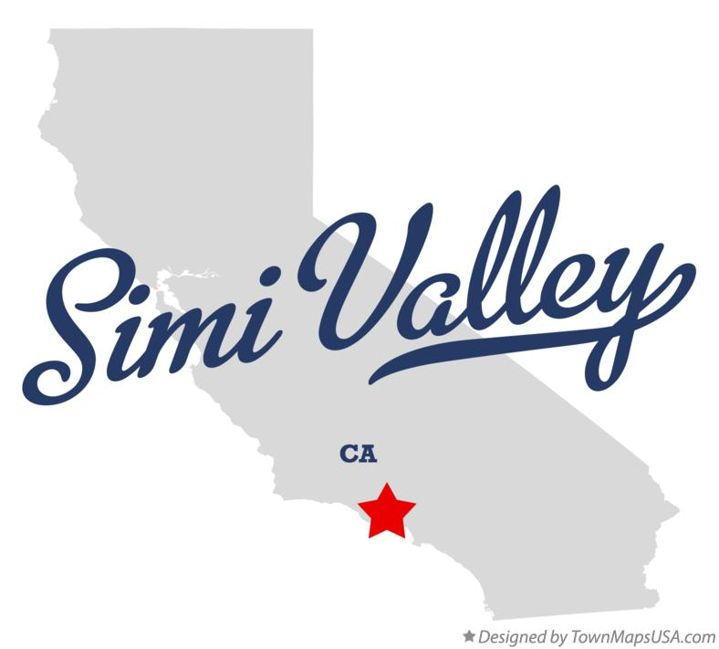 Map of Simi Valley California CA