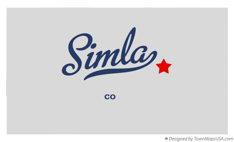 Map of Simla Colorado CO