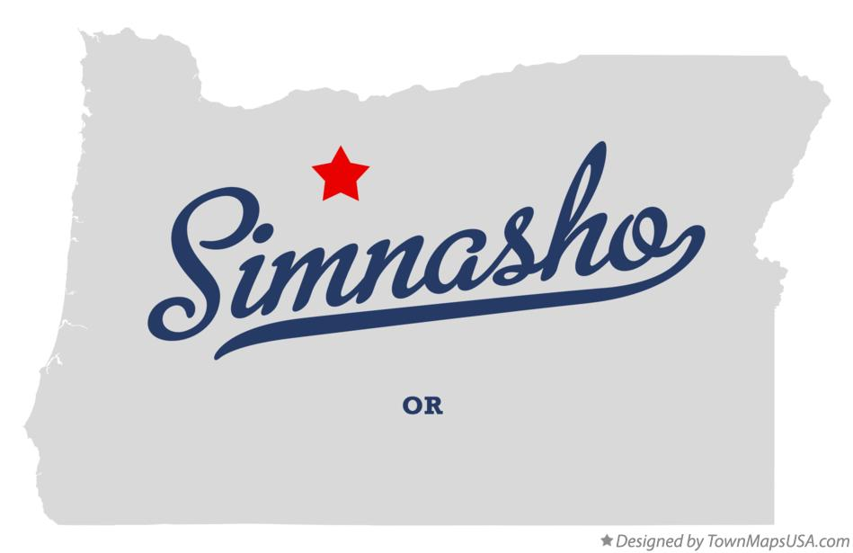 Map of Simnasho Oregon OR