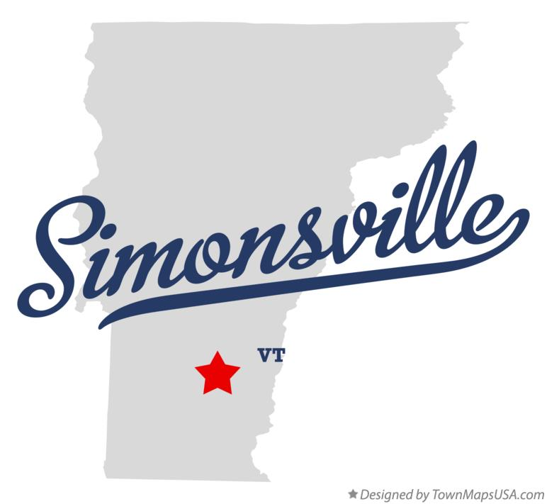 Map of Simonsville Vermont VT