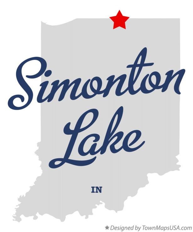 Map of Simonton Lake Indiana IN