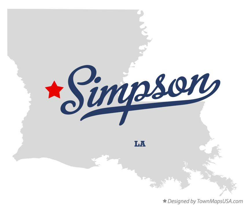 Map of Simpson Louisiana LA
