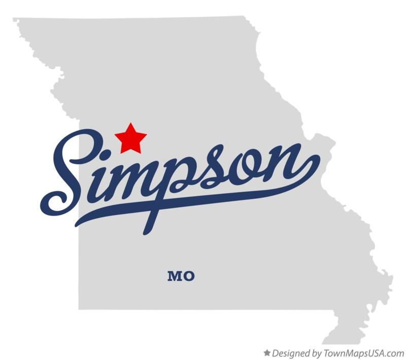 Map of Simpson Missouri MO