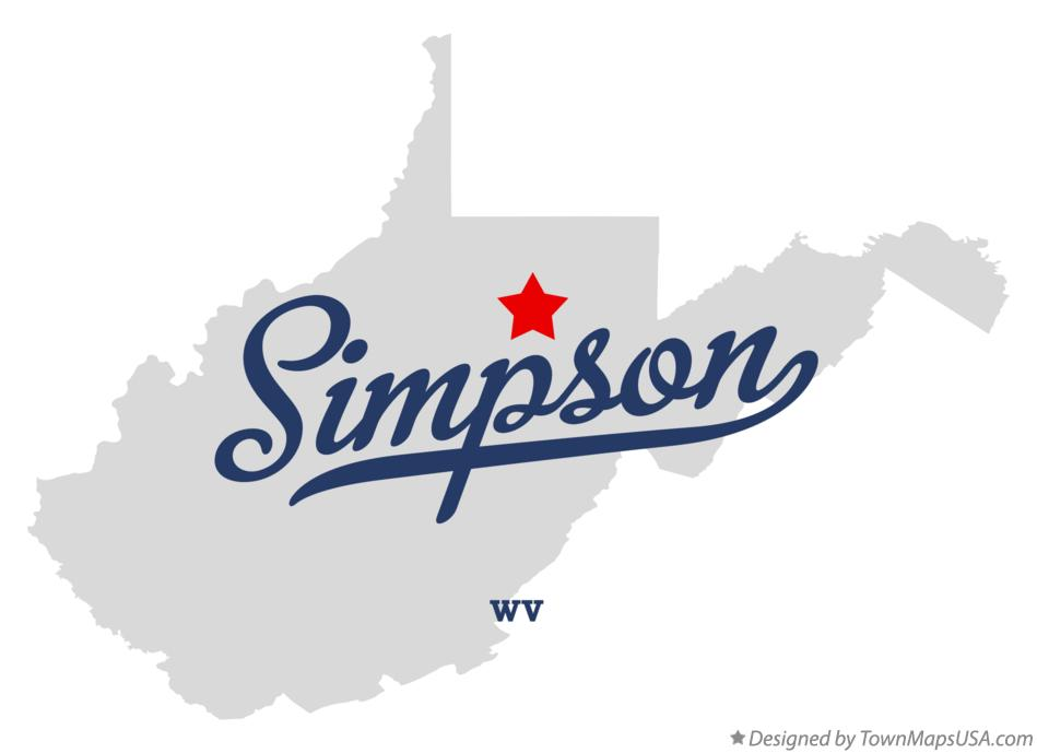 Map of Simpson West Virginia WV