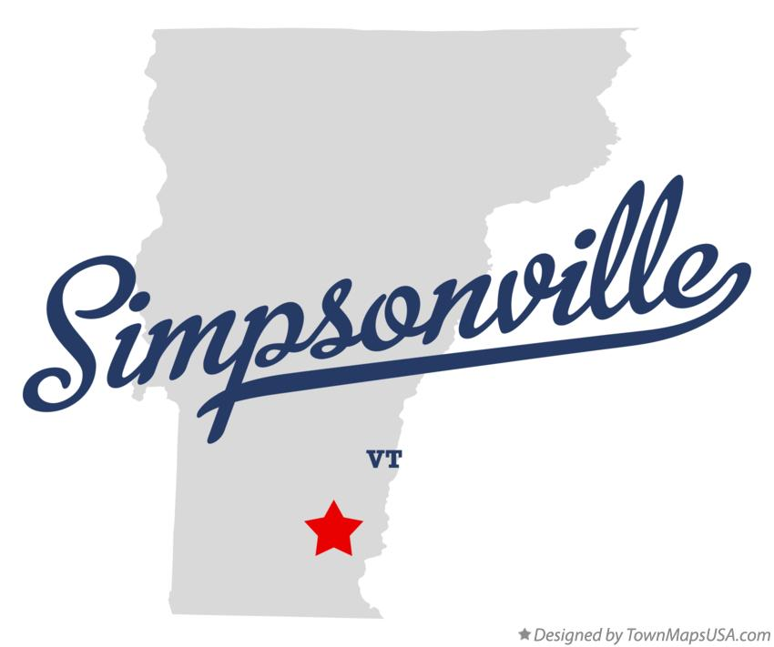 Map of Simpsonville Vermont VT