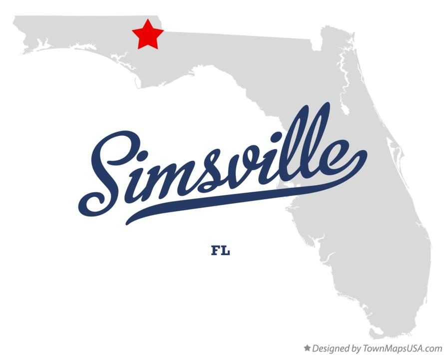 Map of Simsville Florida FL