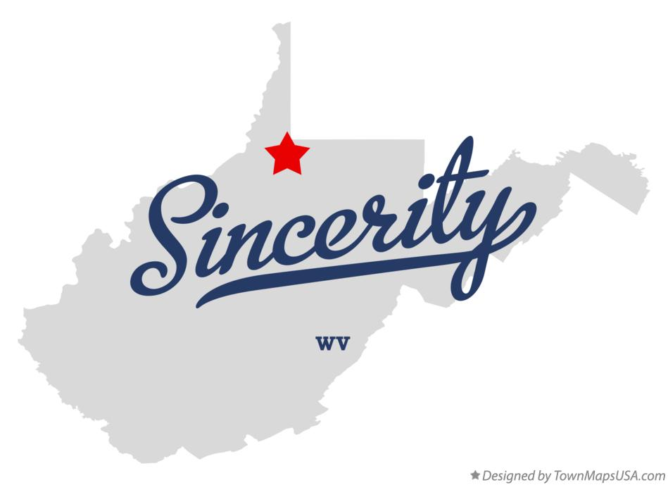 Map of Sincerity West Virginia WV
