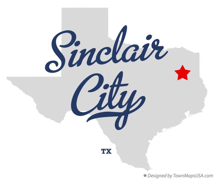 Map of Sinclair City Texas TX