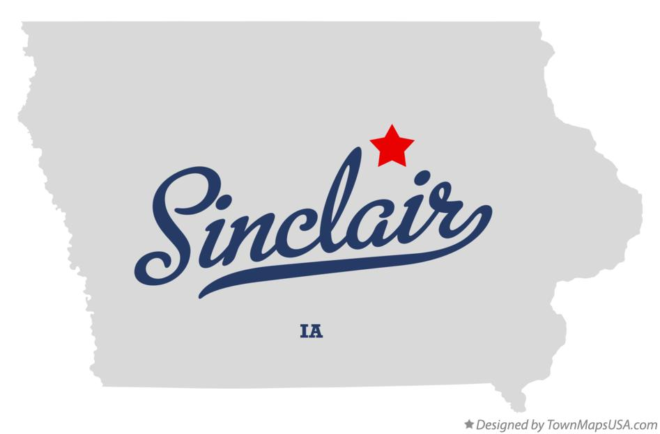 Map of Sinclair Iowa IA