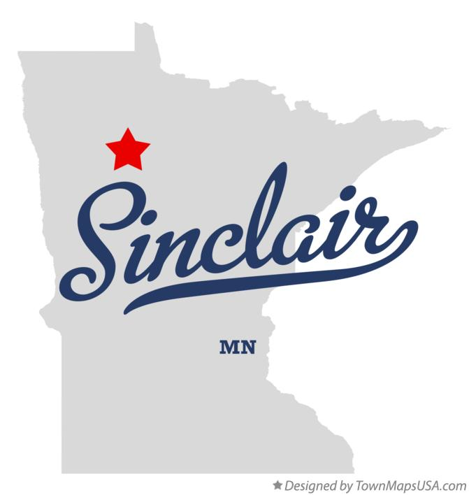 Map of Sinclair Minnesota MN