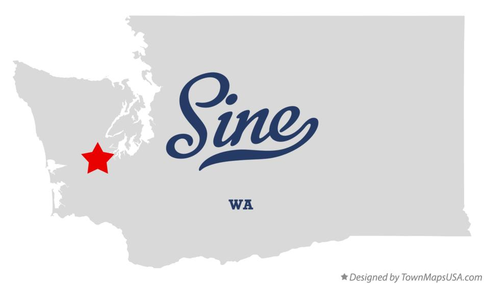 Map of Sine Washington WA