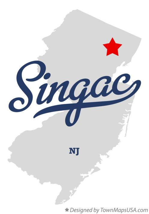Map of Singac New Jersey NJ