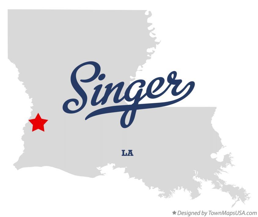 Map of Singer, LA, Louisiana