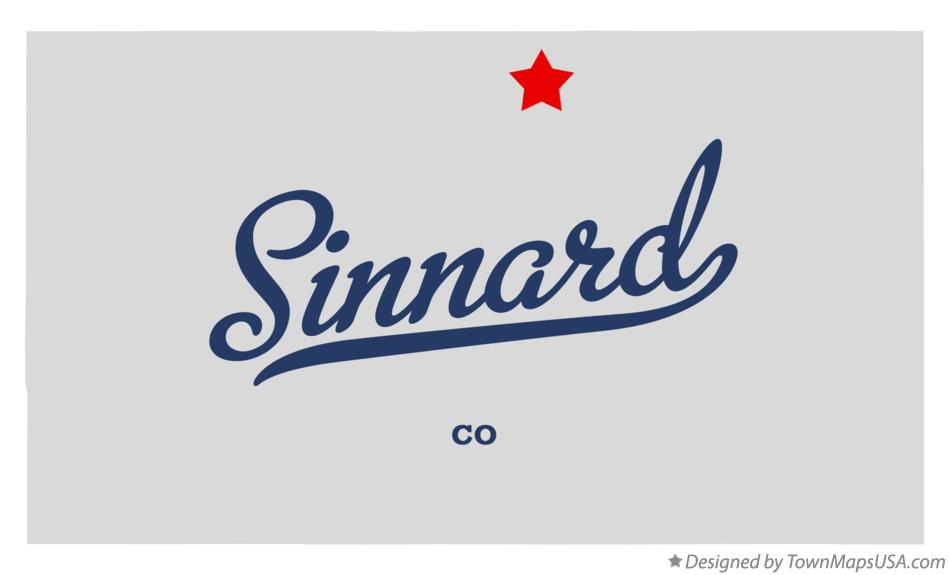 Map of Sinnard Colorado CO