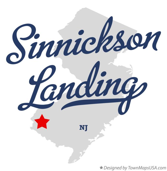 Map of Sinnickson Landing New Jersey NJ